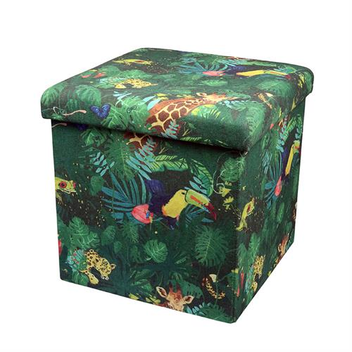 OTTOMAN foldable storageTropical